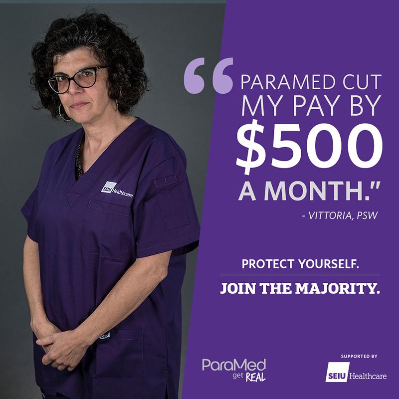 Paramed cut my pay
